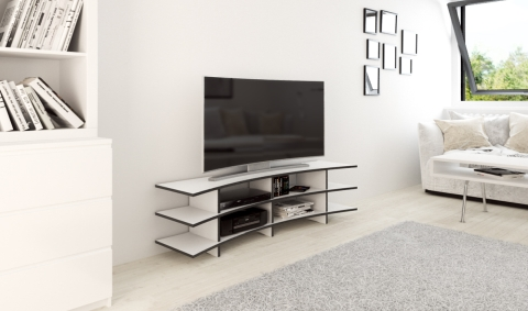 meuble TV blanc sur mesure Form bar