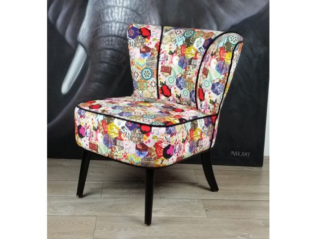 Fauteuil cocktail  VEGA patchwork