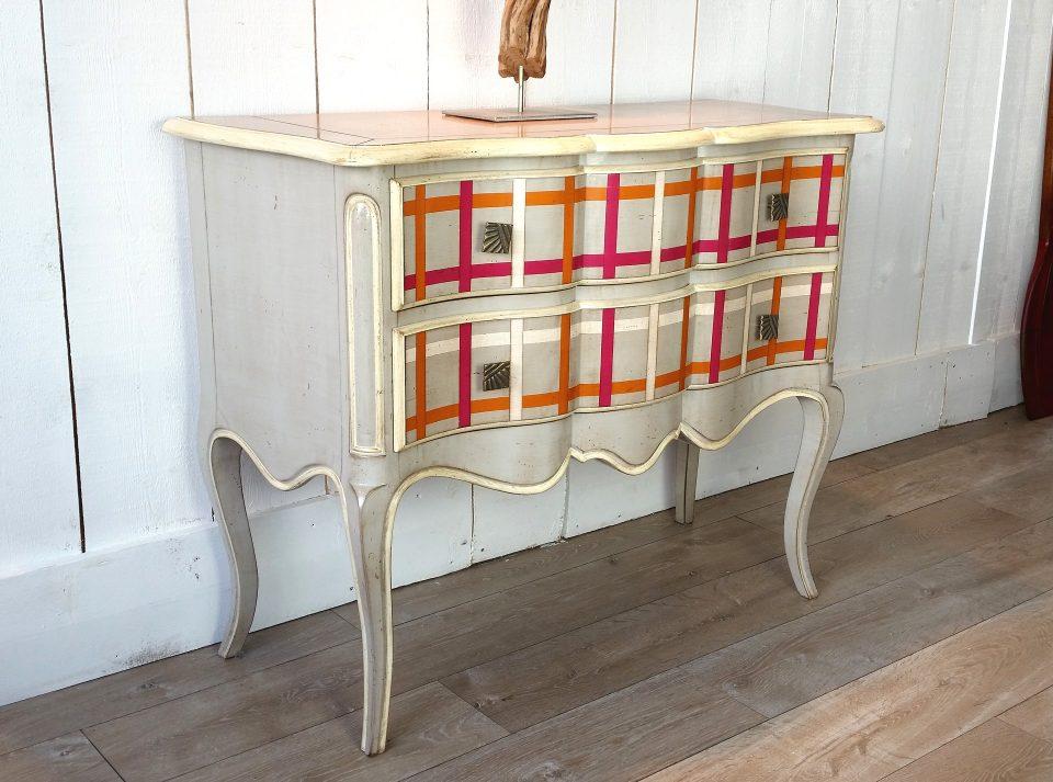 la commode jersey carreaux multi couleurs au magasin de brest. Black Bedroom Furniture Sets. Home Design Ideas