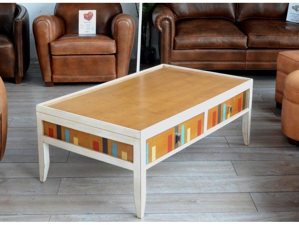 table basse en bois merisier massif. Black Bedroom Furniture Sets. Home Design Ideas