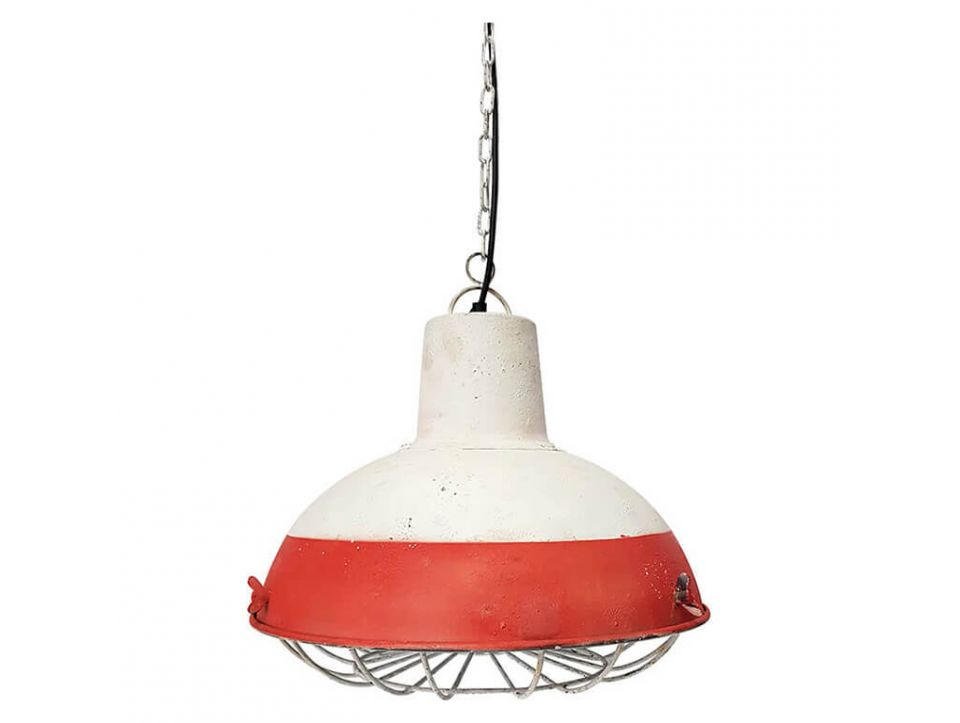 Suspension VINTAGE - ROUGE ET BLANC