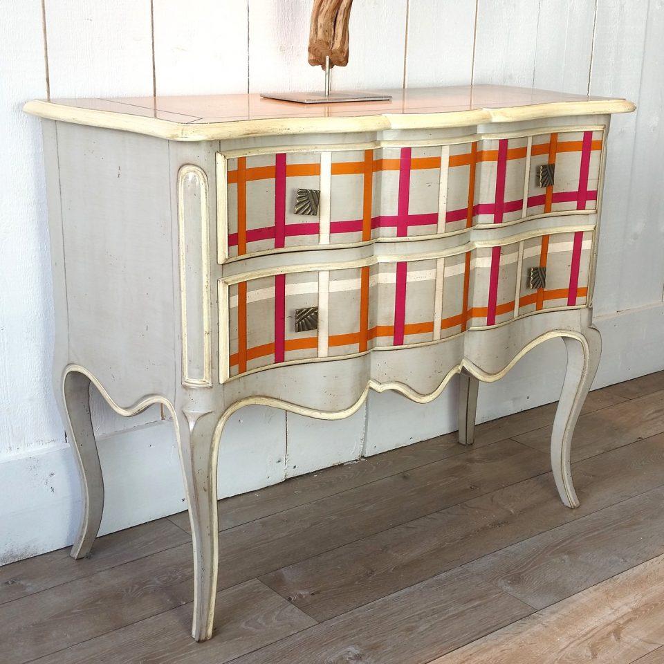 la commode jersey carreaux multi couleurs au magasin de. Black Bedroom Furniture Sets. Home Design Ideas